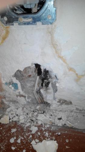 Повреждение алюминиевой проводки в панельной многоэтажке.